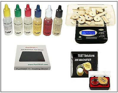 Gold/Silver Acid Testing Kit + Diamond Loupe Checker + Electronic Digital Scale