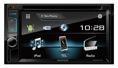 KENWOOD DDX4017BT 6.2inch WVGA Clear-coated Resistive Touch Screen AV Receiver