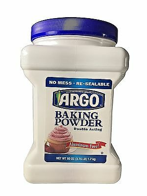 Argo Baking Powder Double Acting Aluminum Free 3.75 LB (60 OZ)