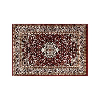 VALENTI MEDALLION RED TRADITIONAL FLOOR RUG MAT (XXS) 50x80cm **FREE DELIVERY**