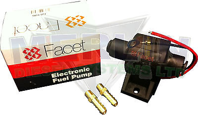 12V Electric Fuel Pump Lift Pump Facet 60106 With 8Mm Tails