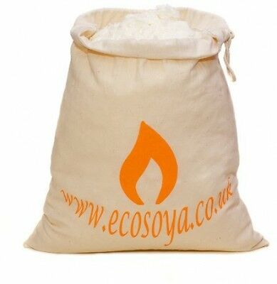 Eco Soya Container Wax Candle Flakes in Fairtrade, Cotton, White, 1 Kg