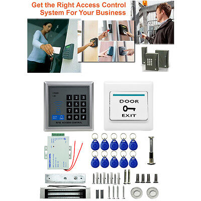 Electric Magnetic Door Lock Access Control RFID Password Entry System + ID Cards