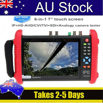 "IPC9800ADHS 7"" Touch Screen HD 1080P TVI CVI AHD SDI CVBS IP Camera Tester 12V"