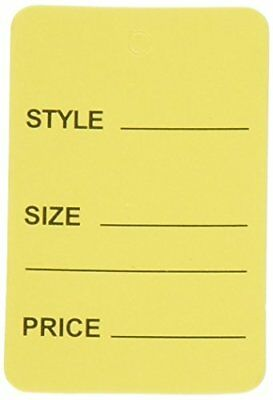 1000pcs Yellow One Part Unstrung Perforated Price Coupon Tag Clothing Price
