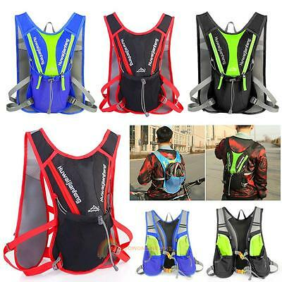 Cycling Running Rucksack Backpack Hydration Pack Hiking Camping Bike Water Bags