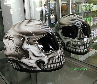Custom Airbrushed Painted Full Face Motorcycle Helmet
