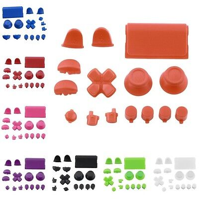 Replacement Buttons Custom Kit For PS4 Playstation 4 Controller Solid Color AU