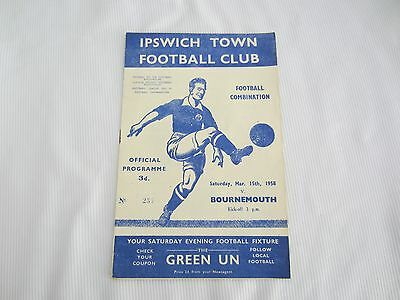 1957-58 COMBINATION IPSWICH TOWN v BOURNEMOUTH