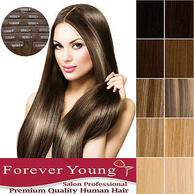 Clip In Invisible Seamless Real Remy Human Hair Extensions Weft Premium Quality