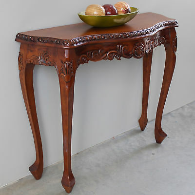 Astoria Grand Luck Hand Carved Wood Console Table