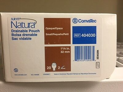 """Sur-Fit Natura Drainable Pouch 1-1/4"""", 2 Sided Comfort Panel 404030 20/bx"""