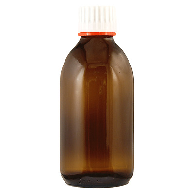 250ml Amber Glass Sirop Bottle with Tamper Evident Lid