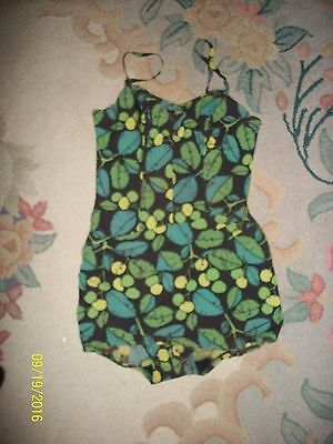 Vintage 1950's Rose Marie Reid 1 Piece Pinup Swim Bathing Suit Size 16 M L