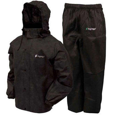 Frogg Toggs AS1310-01  Men's Black All Sport Rain Water Suit  All Sizes