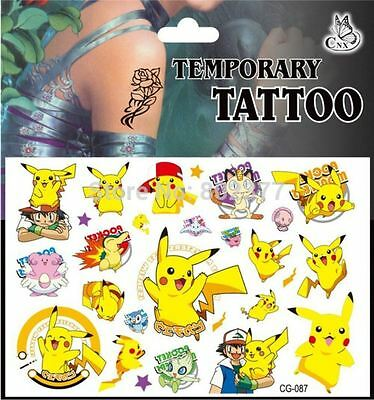 Kids Temporary Tattoos , Pokemon Tattoos Party Bag Loot Bag Tattoo Stickers