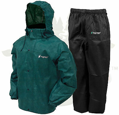 Frogg Toggs AS1310-109  Men's Green / Black All Sport Rain Water Suit  All Sizes