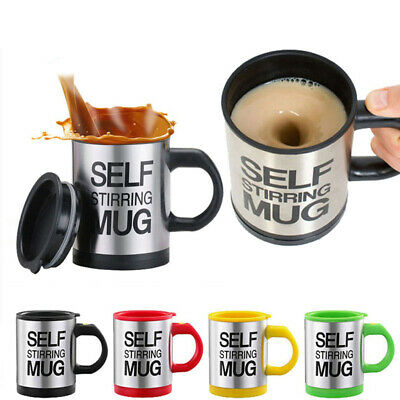 Tazza Termica Automescolante Self Stirring Mug Miscela Idea Regalo Schiuma Caffe