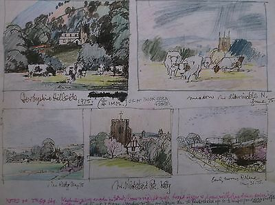 COLOURED GRAPHITE DRAWING by FREDERICK GEORGE WILLS 1901-1993 R.I. LANDSCAPES