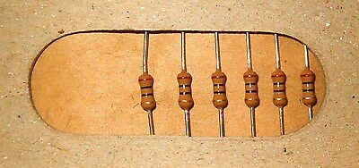 Tape of 50 10 Ohm 1/4W 5% NIC Carbon Film Axial Resistors