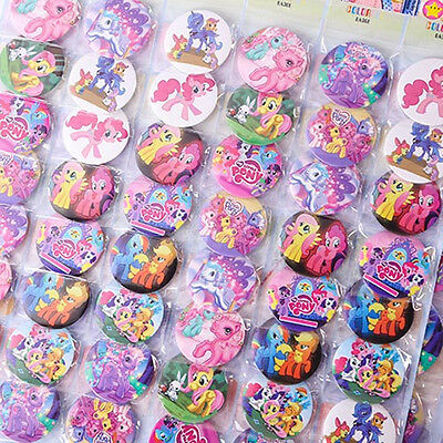 20pcs Cute My Little Pony Figure Doll Brooches Badges Set Kids Baby Boy Girl Toy