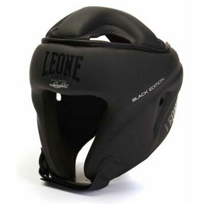 Casco Leone Black Edition Full Contact Kick Boxing Muay Thai