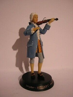 Mozart Wolfgang Amadeus With Violin, Violin, 18 cm Poly Figurine, NEW