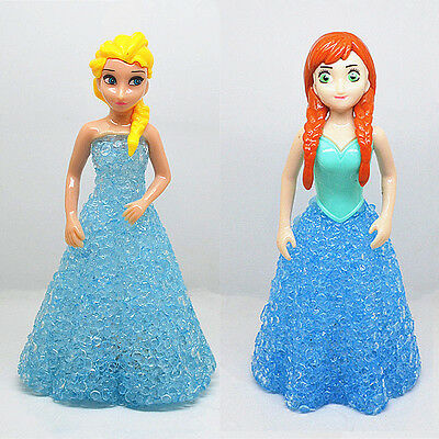 Fun Frozen Princess Action Figures Doll Color Changing Night Light Kids Toy Gift