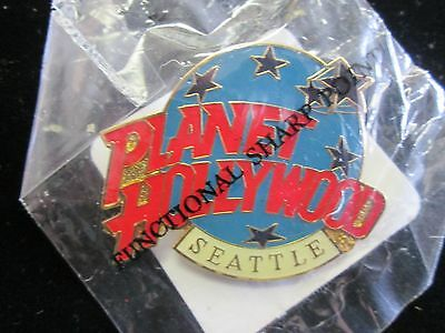 Planet Hollywood Seattle Restaurant Souvenir Collector Pin NEW IN ORIG.BAG