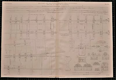 1855 Locomotive Print Switches & Crossings James Bell North British Railway
