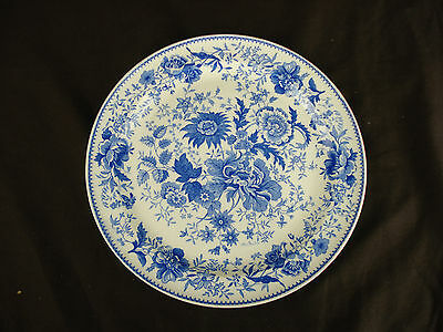 Vtg Taylor Smith Transferware Plate Signed J Palin Thorley Blue White Shabby