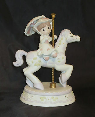 Mary Poppins Precious Moments Carousel Horse It's A Most Delightful Day NWOB