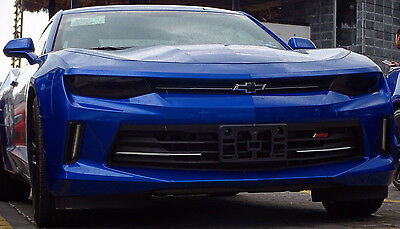 16-18 CAMARO smoked tinted precut vinyl HEADLIGHT and TAIL LIGHT covers overlays