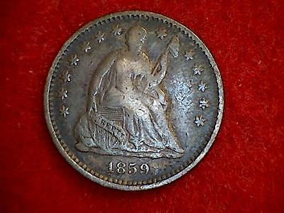 1859-O Seated Liberty Half Dime .900 Silver New Orleans