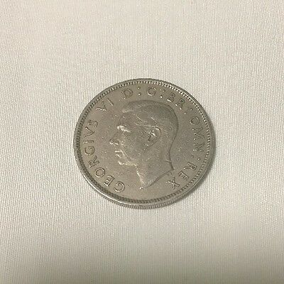 1951 GREAT BRITAIN (UK), VINTAGE SILVER COIN: TWO SHILLINGS -box-01