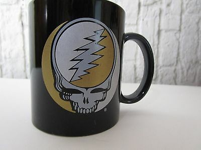 Grateful Dead Coffee Mug/Cup Collectible Stats On Back Black GUC