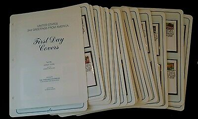 #3561-3610 Greetings From America First Day Covers ALL 50 FDC + binder & more