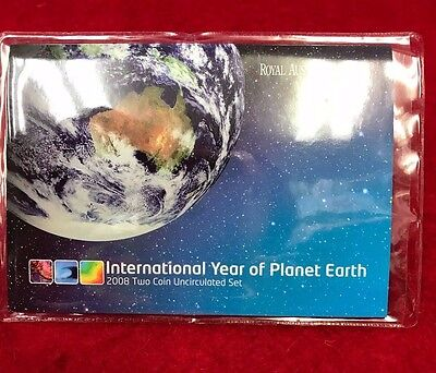 2008 International year of Planet Earth - two coin uncirculated set.