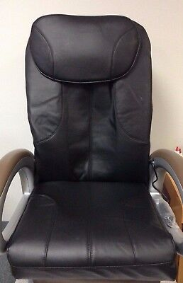 Black Leather Pedicure Chair Cover - 3 Piece Set