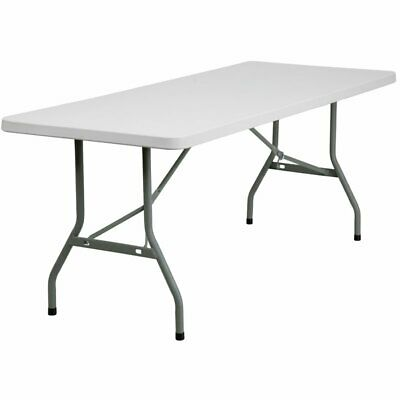"Flash Furniture 30"" x 72"" Plastic Folding Table in White"