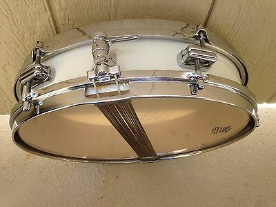 Vintage 50's Premier 3 1/4X14 Olympic Beech Snare Drum, Olympic White, Nice !
