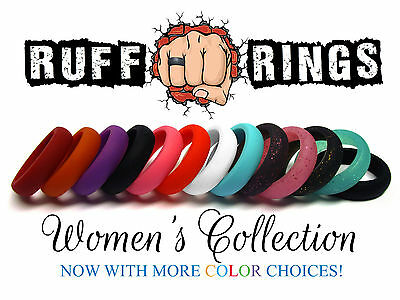 Women's Silicone Wedding Rings / Stackable Crossfit Gym Fitness Active Qalo Band