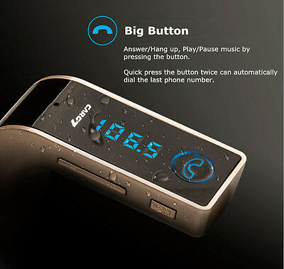 Wireless Bluetooth FM Transmitter USB Car charger for Samsung S7 S8 Note 8 edge