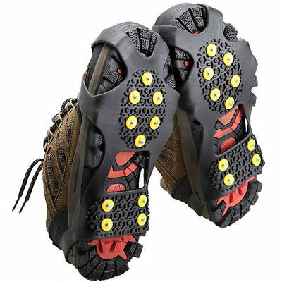 Climbing Snow Ice Silicone Anti-Slip Crampons Shoes Cover Grippers Spikes Grips