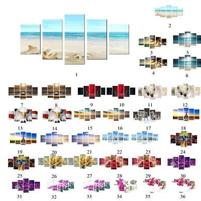 5-panel Canvas Wall Art Painting Set DIY Living Room Decorative Hanging Pictures