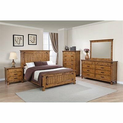 copley 8 piece queen bedroom set mybobs coaster brenner piece full panel bedroom set in natural and honey greenough maple oak