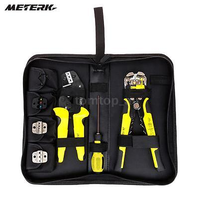 4 In 1 Wire Crimpers Engineering Ratcheting Terminal Crimping Pliers Tool R8N4