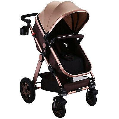 Foldable Pram Baby Stroller Carriage Infant 0-36 Months Luxury Luxurious Great