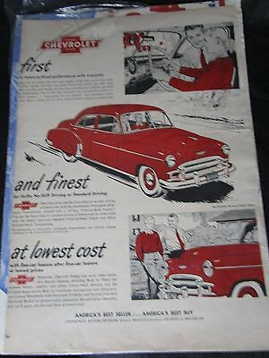 Father Son Chevrolet Magazine Ad Vintage GUC Old Pictures  C3