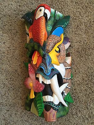 Boruca Mask - Costa Rica Indian Hand Painted, Hand Carved Art - amazing detail